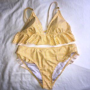 Cupshe ruffles swim suit
